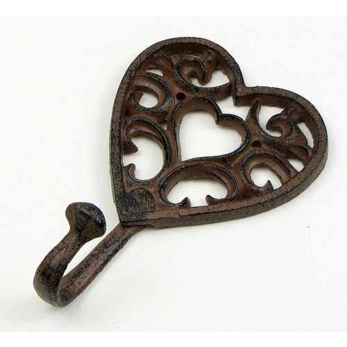 Heart Cast Iron Hook