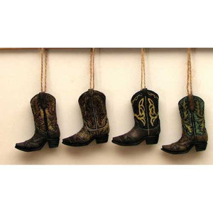 Cowboy Boot Ornaments Set of 4