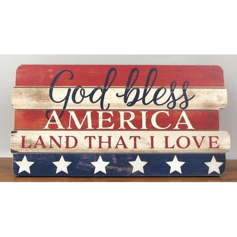 """God Bless America"" Wood Sign"