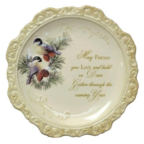 Elegant Ceramic Decorative Plate 'May Friends You Love'