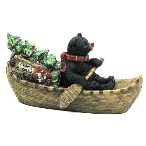 Holiday Bear in Boat