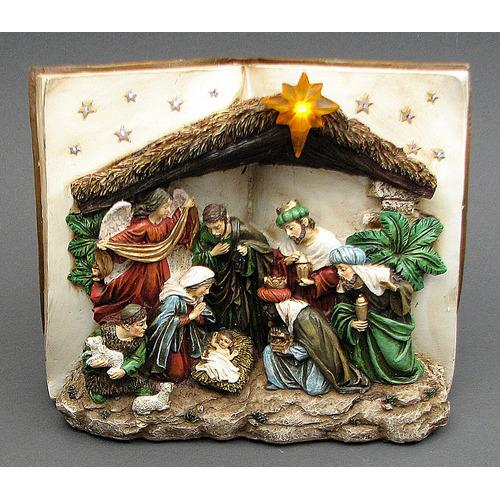 Nativity Scene Book LED