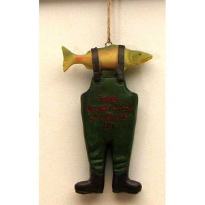 Resin Fishing Boot Ornament