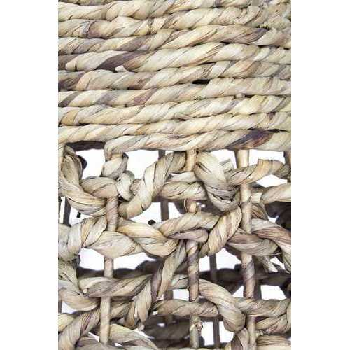 "11"" X 11"" X 38"" Natural Water Hyacinth Water Hyacinth Woven Floor Vase"