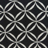 "20"" x 0.5"" x 20"" Transitional Black Cotton Pillow Cover"