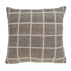 "20"" x 0.5"" x 20"" Charming Transitional Tan Accent Pillow Cover"