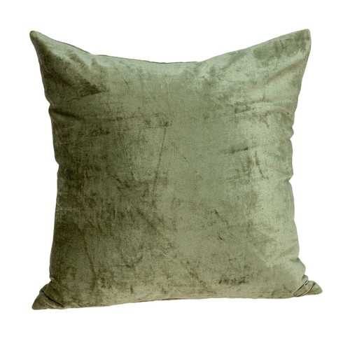 "22"" x 7"" x 22"" Transitional Olive Solid Pillow Cover With Poly Insert"