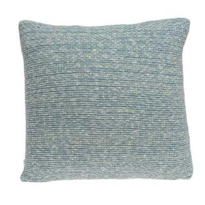 "20"" x 7"" x 20"" Transitional Blue Pillow Cover With Poly Insert"