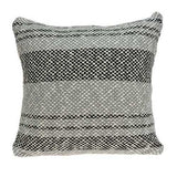"20"" x 7"" x 20"" Stunning Transitional Gray Accent Pillow Cover With Poly Insert"