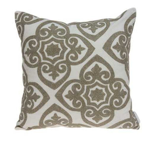 "20"" x 7"" x 20"" Bling Ivory Pillow Cover With Poly Insert"