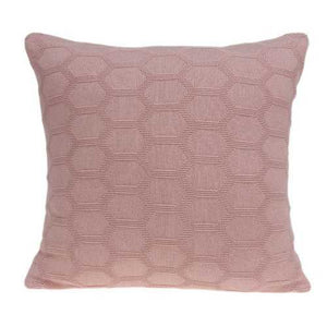 "20"" x 7"" x 20"" Transitional Pink Pillow Cover With Down Insert"
