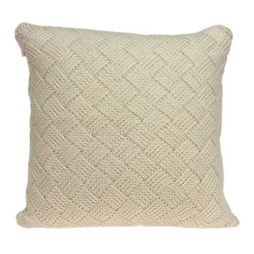 "20"" x 7"" x 20"" Transitional Beige Pillow Cover With Down Insert"