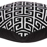 "20"" x 7"" x 20"" Black and White Pillow Cover With Down Insert"