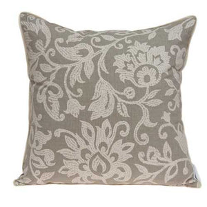 "20"" x 7"" x 20"" Beautiful Transitional Tan Pillow Cover With Down Insert"