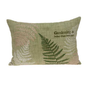 "20"" x 6"" x 14"" Tropical Green Accent Pillow Cover With Down Insert"