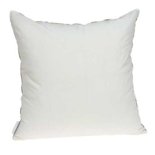"20"" x 7"" x 20"" Bling Ivory Pillow Cover With Down Insert"