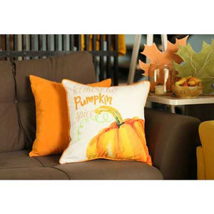 "Set of 4 18"" Pumpkin Pie Throw Pillow Cover in Multicolor"