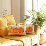 "Set of 2 20"" Thanksgiving Pumpkin Throw Pillow Cover in Multicolor"