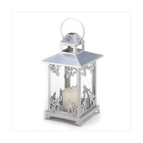 Silver Scrollwork Candle Lantern (pack of 1 EA)