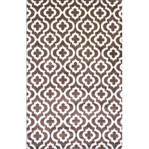 Mirror Rehash Brown Area Rug 5 ft. by 7 ft.