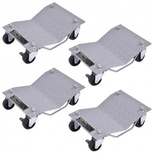 4 pcs Vehicle Car Auto Repair Moving Tire Wheel Dolly