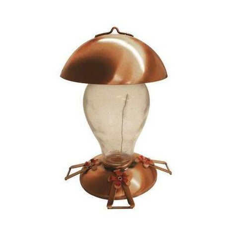 Copper Glass Hummingbird Fdr