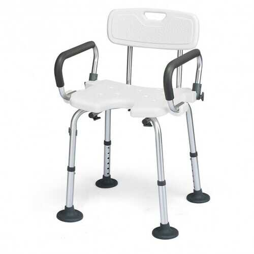 Adjustable Height U-Shaped Shower Chair