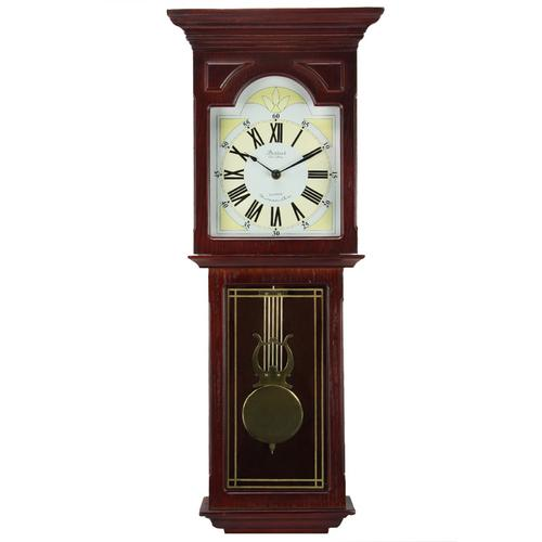 Bedford Clock Collection Redwood 23 Inch Redwood Oak Finish Wall Clock