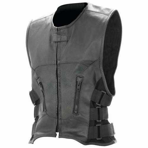 Solid Genuine Buffalo Leather Vest