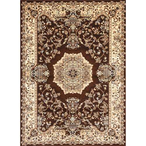 Msrugs Traditional Oriental Medallion Brown Beige Area Rug Persian Style Rug 100