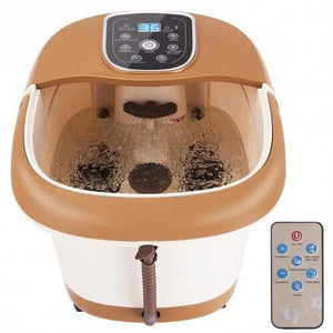 All-in-One Tem / Time Set Foot Spa Massager with 6 Rollers