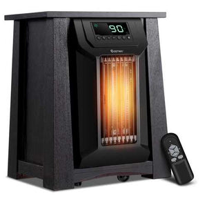 1500W 12H Timer Caster Portable Electric Space Heater