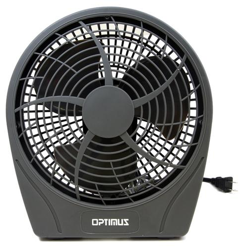 Optimus 9 in. Stylish 3 Speed Personal Fan in Gray