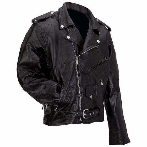 Genuine Buffalo Leather Motorcycle Jacket
