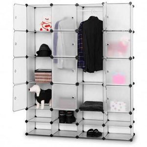 16+8 Cubes Portable Clothes Closet Storage Cabinet