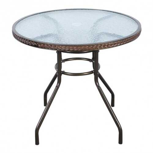Outdoor Patio Steel Round Table