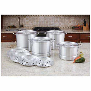 12pc Aluminum Steamer Stockpot Set