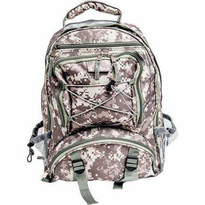 Digital Camo Water-Resistant Backpack