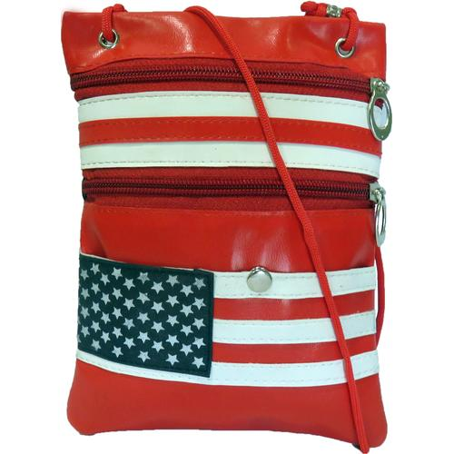 AFONiE-Light & Soft USA Flag Messanger Bag
