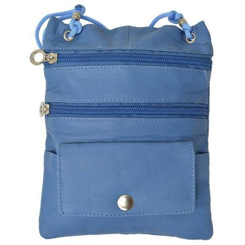 Genuine Leather Multi-Pocket Crossbody Purse Bag