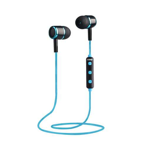 Naxa NE-950 Bluetooth Isolation Earphones with Microphone & Remote - Blue/Black