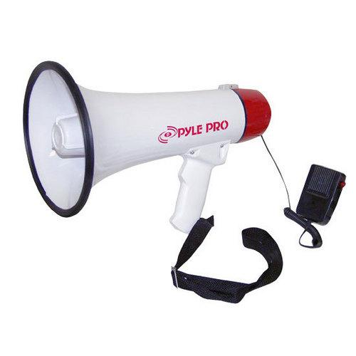 Megaphone / Bullhorn with Plug-in Handheld Mic, Automatic Siren and Adjustable Volume Control