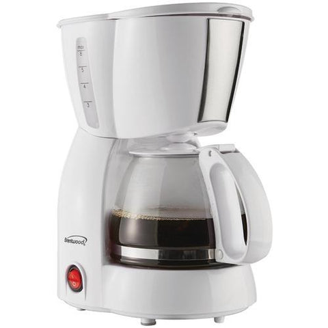Brentwood 4-cup Coffee Maker (white) (pack of 1 Ea)