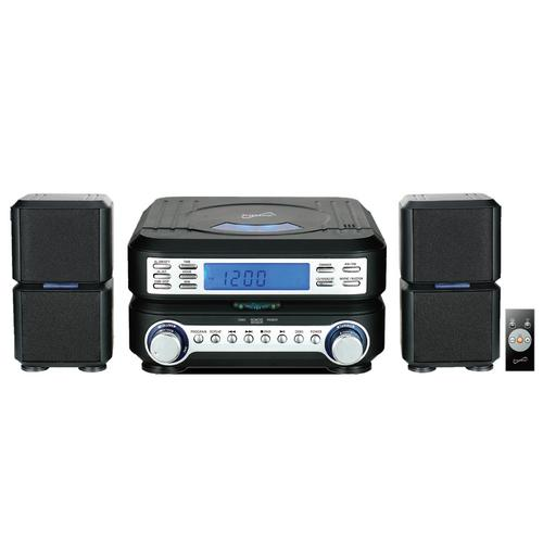 Supersonic Portable Micro System with Bluetooth, CD Player, AUX Input & AM/FM Radio