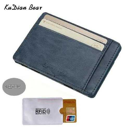 Slim Wallets PU Leather Men Magic Wallet Rfid Card Holder Mini Wallets Card Holders Carteira