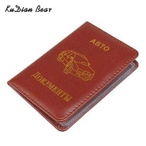 Brand Russian Auto Driver license holder Car-Covers for Documents Designer Travel Wallets