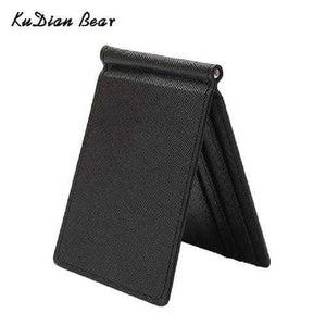 Slim Men Money Clip Wallet Mental Solid Male Purses Designer I Clip Cash Holder Card Cases