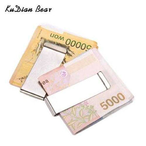 Stainless Steel Men Money Clips Metal Slim Money Clip Purses Wallet Money Holder for Men portafoglio