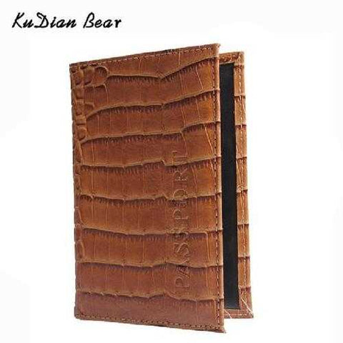 Crocodile Women Passport Cover PU Leather the Cover of the Passport Holder Travel Cover Case