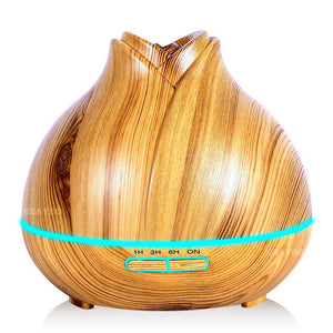400ml Aroma Essential Oil Diffuser Ultrasonic Air Humidifier purifier with Wood Grain LED Lights for Office Home Bedroom